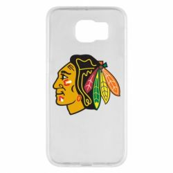 Чехол для Samsung S6 Chicago Black Hawks - FatLine