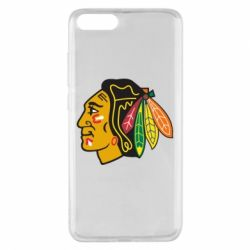 Чехол для Xiaomi Mi Note 3 Chicago Black Hawks - FatLine