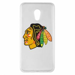Чехол для Meizu Pro 6 Plus Chicago Black Hawks - FatLine