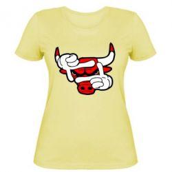Женская футболка Chicago Bulls бык - FatLine