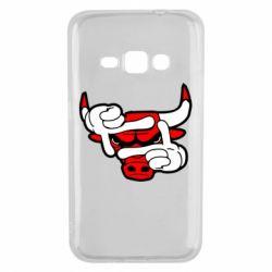 Чехол для Samsung J1 2016 Chicago Bulls бык