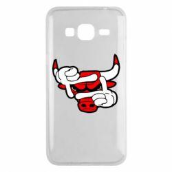 Чехол для Samsung J3 2016 Chicago Bulls бык