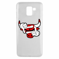 Чехол для Samsung J6 Chicago Bulls бык