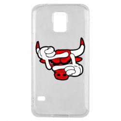 Чехол для Samsung S5 Chicago Bulls бык