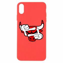 Чехол для iPhone Xs Max Chicago Bulls бык
