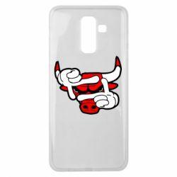 Чехол для Samsung J8 2018 Chicago Bulls бык