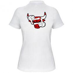 Женская футболка поло Chicago Bulls бык - FatLine