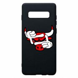 Чехол для Samsung S10+ Chicago Bulls бык