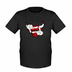 Детская футболка Chicago Bulls бык - FatLine