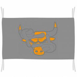 Флаг Chicago Bulls бык
