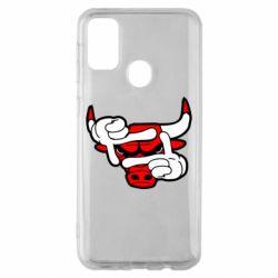Чехол для Samsung M30s Chicago Bulls бык