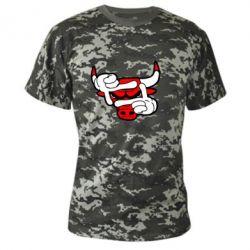 Камуфляжная футболка Chicago Bulls бык - FatLine