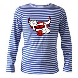 Тельняшка с длинным рукавом Chicago Bulls бык - FatLine