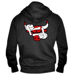Мужская толстовка на молнии Chicago Bulls бык - FatLine