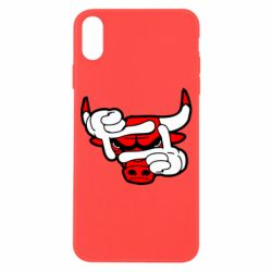 Чехол для iPhone X/Xs Chicago Bulls бык