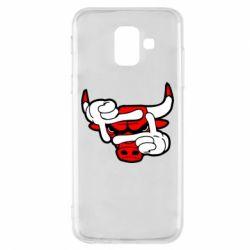 Чехол для Samsung A6 2018 Chicago Bulls бык