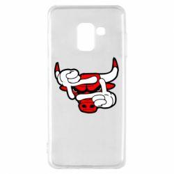 Чехол для Samsung A8 2018 Chicago Bulls бык