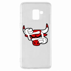 Чехол для Samsung A8+ 2018 Chicago Bulls бык