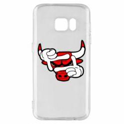 Чехол для Samsung S7 Chicago Bulls бык