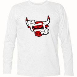Футболка с длинным рукавом Chicago Bulls бык - FatLine