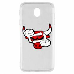 Чехол для Samsung J7 2017 Chicago Bulls бык