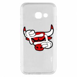Чехол для Samsung A3 2017 Chicago Bulls бык