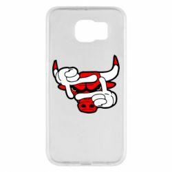 Чехол для Samsung S6 Chicago Bulls бык