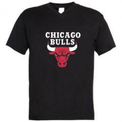Мужская футболка  с V-образным вырезом Chicago Bulls Classic - FatLine