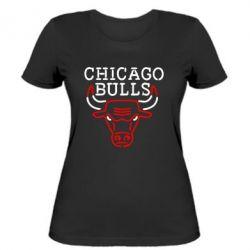 Женская футболка Chicago Bulls Logo - FatLine
