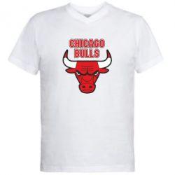 Мужская футболка  с V-образным вырезом Chicago Bulls vol.2 - FatLine