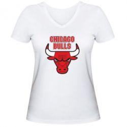 Женская футболка с V-образным вырезом Chicago Bulls vol.2 - FatLine
