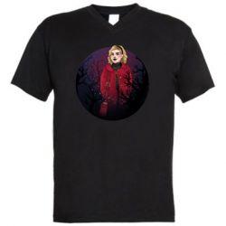 Мужская футболка  с V-образным вырезом Chilling Soul Adventures of Sabrina Art