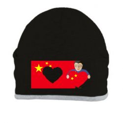 Шапка Chinese flag and president