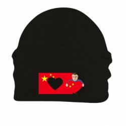 Шапка на флисе Chinese flag and president