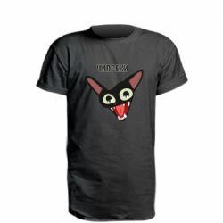 Удлиненная футболка Чипсеки кот мем