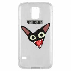 Чехол для Samsung S5 Чипсеки кот мем