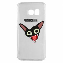 Чехол для Samsung S6 EDGE Чипсеки кот мем