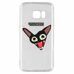 Чехол для Samsung S7 Чипсеки кот мем