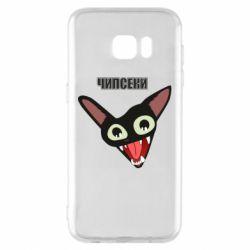 Чехол для Samsung S7 EDGE Чипсеки кот мем
