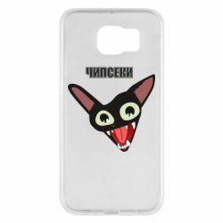 Чехол для Samsung S6 Чипсеки кот мем