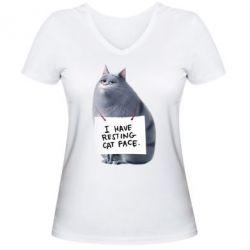 Женская футболка с V-образным вырезом Chloe - FatLine