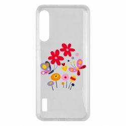 Чохол для Xiaomi Mi A3 Flowers and Butterflies