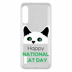 Чохол для Xiaomi Mi A3 Happy National Cat Day