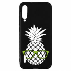 Чохол для Xiaomi Mi A3 Pineapple with glasses