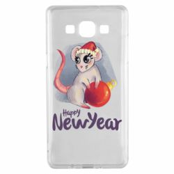 Чехол для Samsung A5 2015 Christmas ball mouse