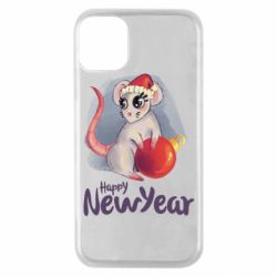 Чехол для iPhone 11 Pro Christmas ball mouse