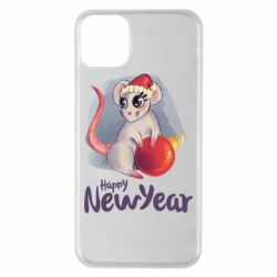 Чехол для iPhone 11 Pro Max Christmas ball mouse