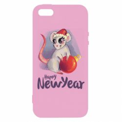 Чехол для iPhone5/5S/SE Christmas ball mouse