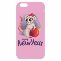 Чехол для iPhone 6/6S Christmas ball mouse