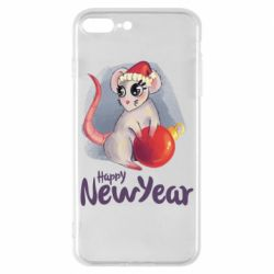 Чехол для iPhone 8 Plus Christmas ball mouse